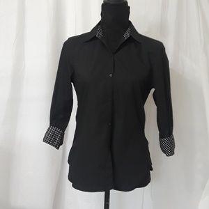 Ralph Lauren Polka Dot Long Sleeve Blouse